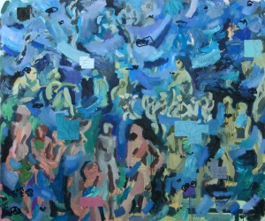 Aquarius, 2008, Öl auf Leinwand, 210 x 250 cm