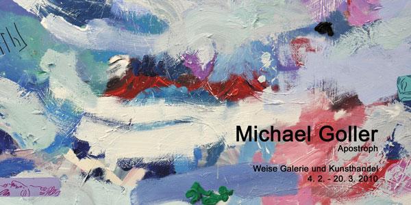 """In der Ausstellung """"Apostroph"""" zeigt die Galerie Weise neue Bilder von Michael Goller."""